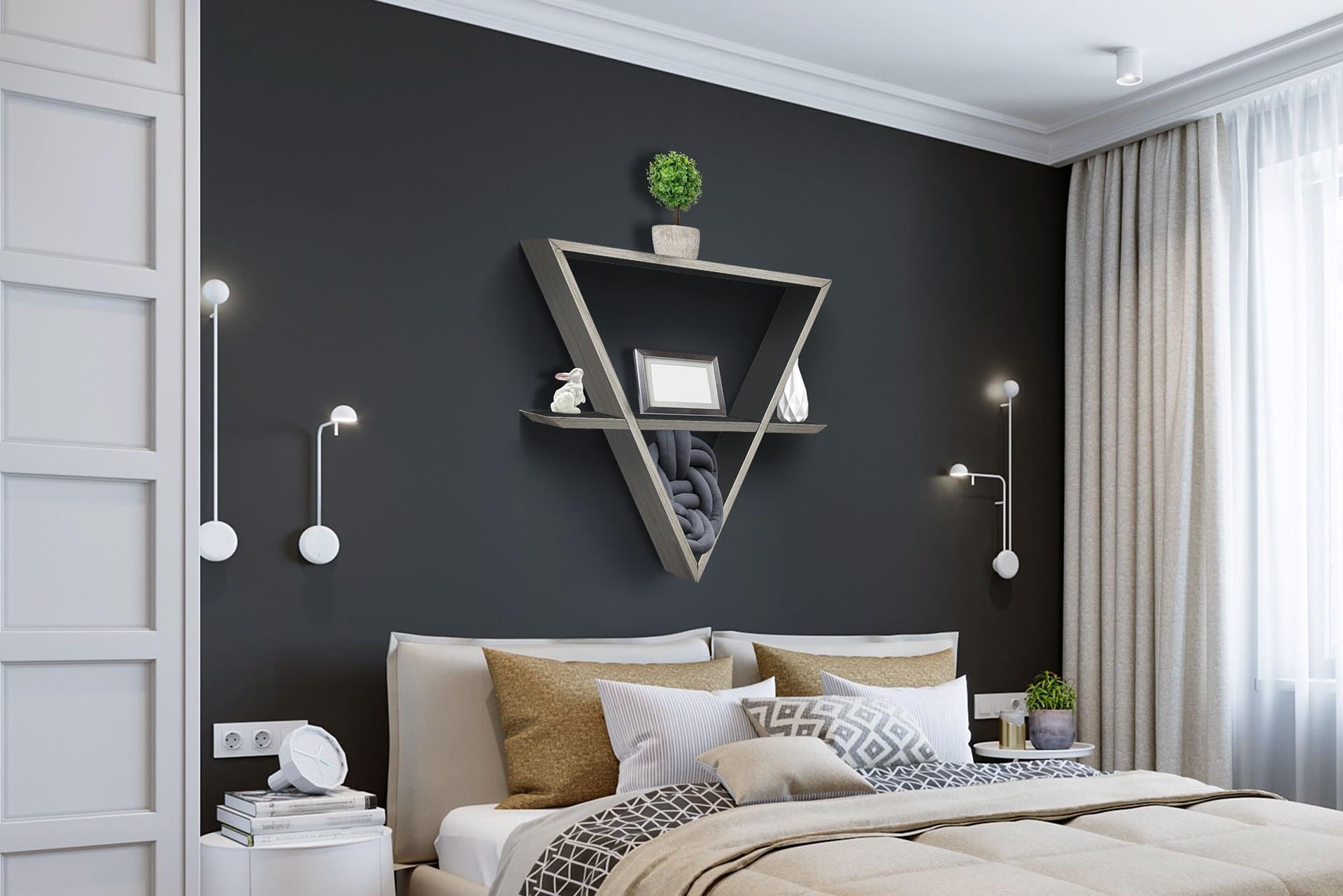 daichi ambiente camera da letto grigio cenere antracite