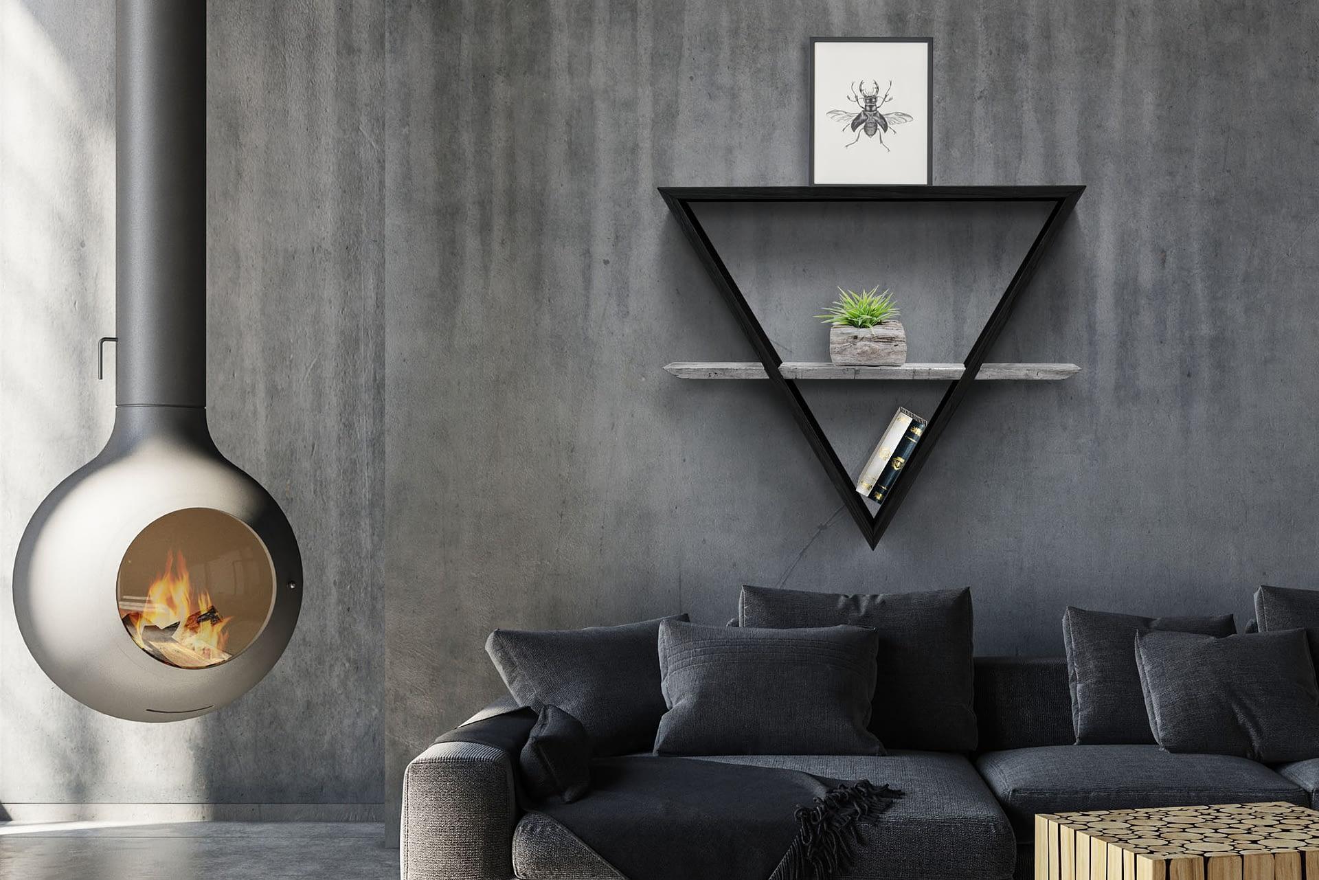 daichi ambiente sala nero foglia argento